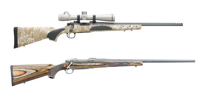 Ruger M77 Hawkeye PredatorSporting a snazzy green and brown laminate stock and