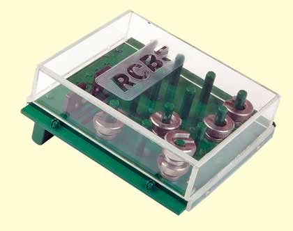 Stay organized and have quick, easy access to your shell holders with this handy plastic rack.