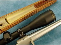 The author generally floats the thin portion of the barrel starting where the straight taper to the muzzle begins. On this particular rifle he then had a mortise milled into the bottom of the remaining barrel channel to lighten the stock.