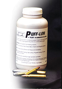 By Kimberly Madelon    Puff-Lon is a lubricating ballistic filler that eliminates the