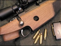 The Tikka Model 595 in .22-250 with a Leupold Mark 4 16X Tactical scope. The .22-250 is an excellent cartridge for long-range target and varmint shooting and also has tactical applications.
