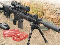 ArmaLite's Super SASS is an AR-10-based 7.62mm sniper rifle originally developed for military use.