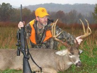 author with Thompson/Center Venture in 7mm-08 and whitetail