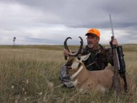 author with pronghorn buck and Burris Eliminator-scoped rifle