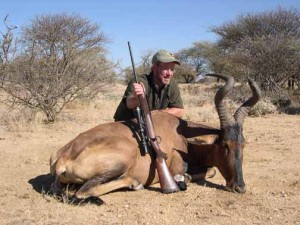 Rupp with red hartebeest and Kimber .300 WSM