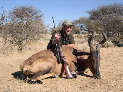Rupp took this red hartebeest in Namibia with a Kimber in .300 WSM