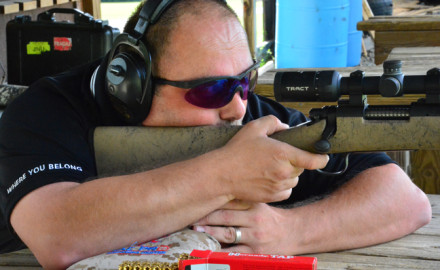 Jon Lacorte shooting a Remington Model 700 700 VSF (Varmint Synthetic Fluted) with a TEKOA 3-12X42 Scope.