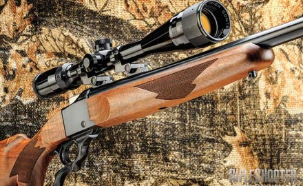 Ruger No. 1 Varminter rifle has a 26-inch barrel, tapers to a pleasing 0.74 inch at the muzzle, and weighs in at 8 pounds