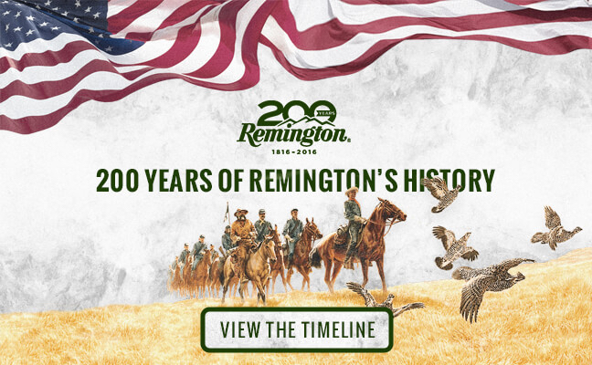 remington anniversary timelime