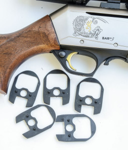 A shim kit that comes with the rifle allows shooters to customize their BARs for drop and cast, including options for lefties.