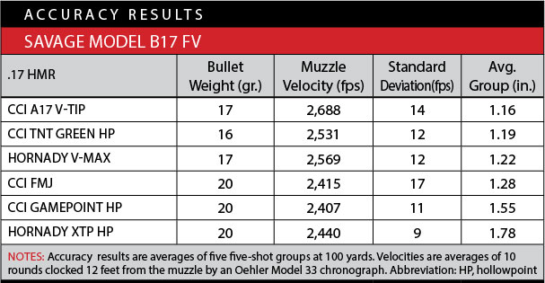 Savage B Series Rimfire Rifle Accuracy