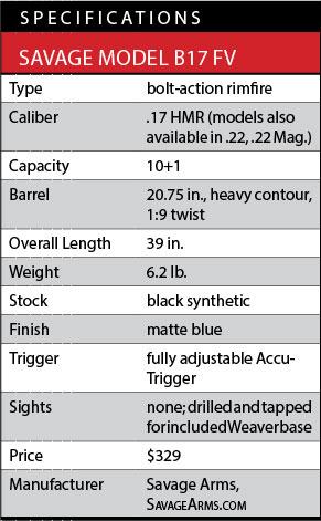 Savage B Series Rimfire Rifle Specs