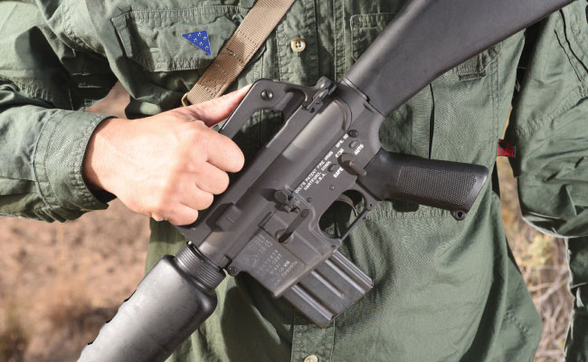 The Colt M16A1 harkens back to the original rifle.