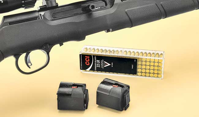 The rifle features Savage's excellent AccuTrigger, which is easy for users to adjust, and feeds from rotary 10-round magazines.