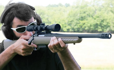Brad Fitzpatrick tests and reviews the Ruger American Ranch rifle in .450 Bushmaster.