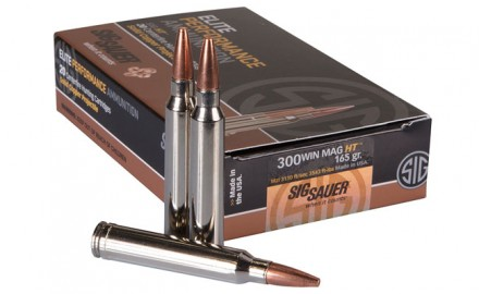 SIG SAUER, Inc. is now offering a 300 Win Mag round in its line of SIG HT premium-grade, copper hunting ammunition.