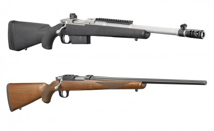 Ruger has introduced two new model configurations: the Ruger® Scout Rifle chambered in .450 Bushmaster, and the Ruger 77/17® chambered in .17 WSM.
