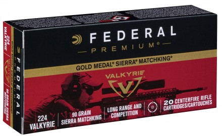 Federal Premium launches a new load in 224 Valkyrie aimed at long-range target shooters with its release of 90-grain Sierra MatchKing