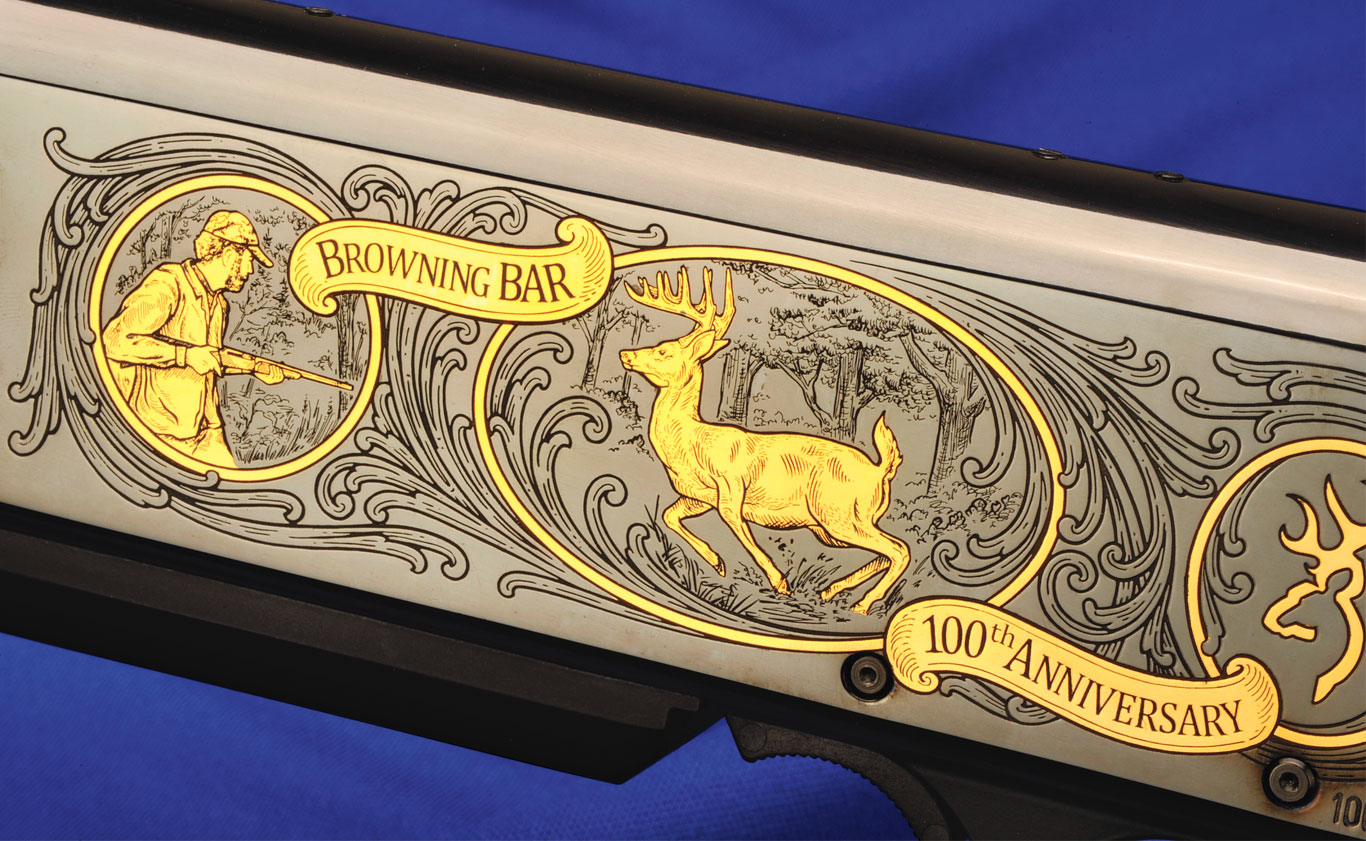As befits such a significant rifle and its anniversary, the BAR 100th sports lots of engraving on both sides of the receiver—and some great-looking wood to boot.