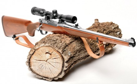 Ruger's Model 77 in .275 Rigby. It's light, easy to carry and fast to the shoulder.