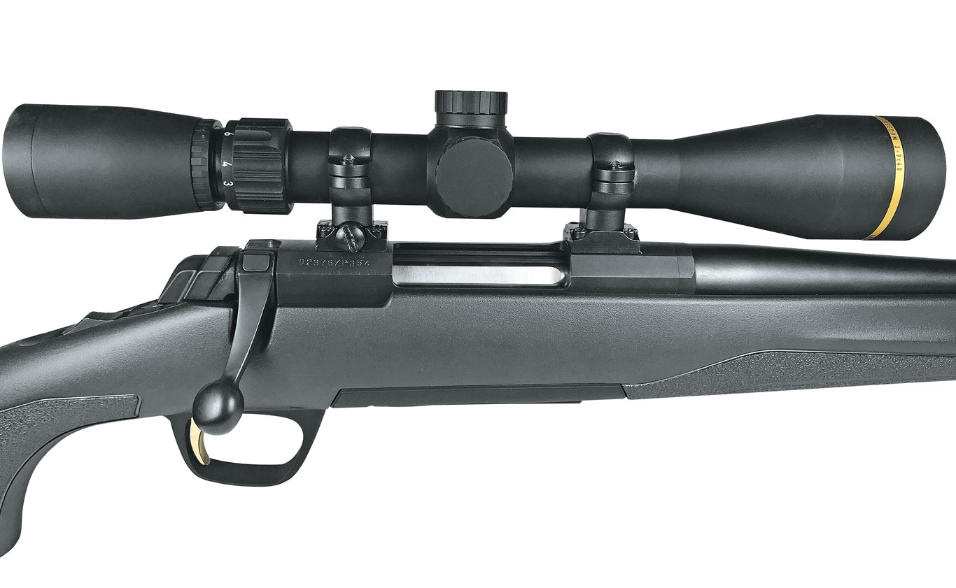 The X-Bolt has become Browning's primary rifle platform, and its three-lug design permits a short, 60-degree bolt throw.