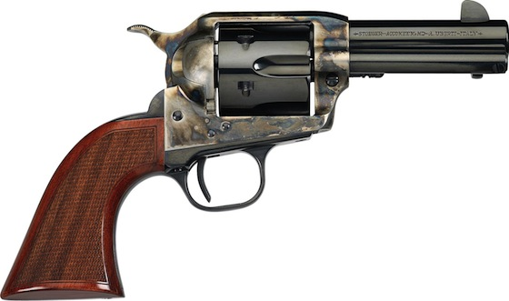 Uberti's El Patron Cowboy Mounted Shooter is chambered for .357 Mag. or .45 Colt, comes with a 3.5- or 4-inch barrel, and features a lower hammer profile and Wolff springs. Finish is blue/casehardened or stainless steel, and grips are walnut.