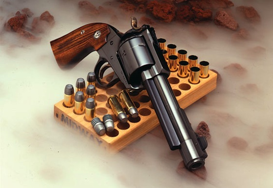 The single action is chambered for powerful factory-loaded handgun cartridges like .357 Magnum, .44 Magnum, and .454 Casull as well as hot wildcats such as .475 Linebaugh and .500 Linebaugh.