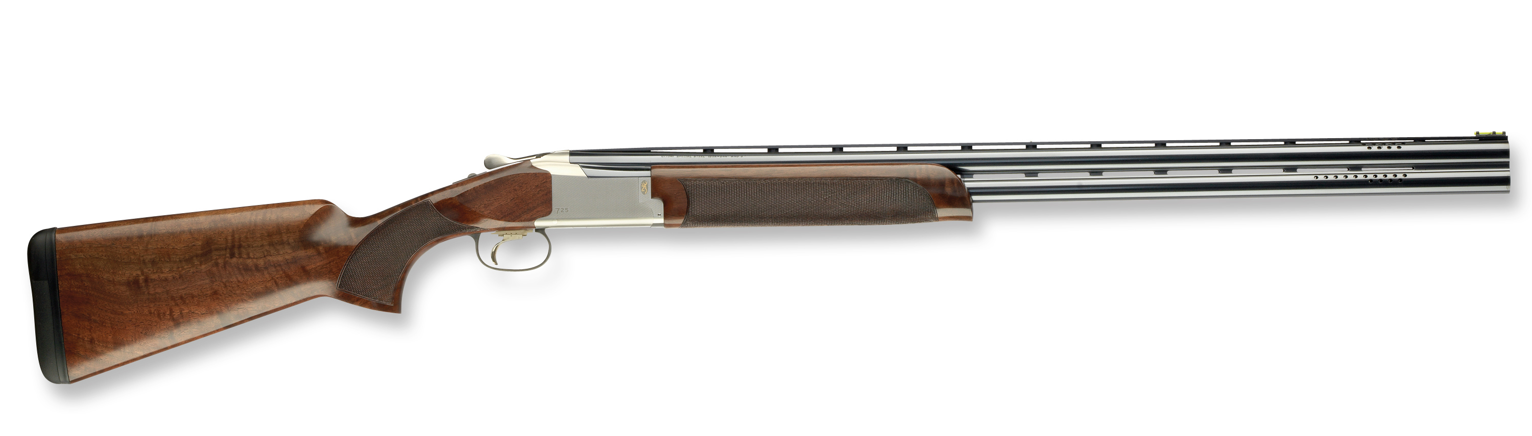 The new Citori 725 12-gauge O/U shotgun's receiver is significantly lower than other Citori
