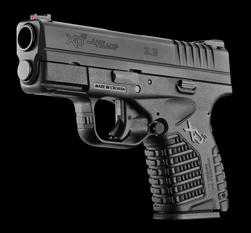 Springfield's newest polymer XDS is a polymer frame, striker fired, single stack .45 pistol with a