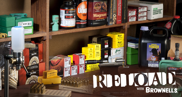 Brownells now offers an expansive line of reloading supplies all backed by the Brownells industry