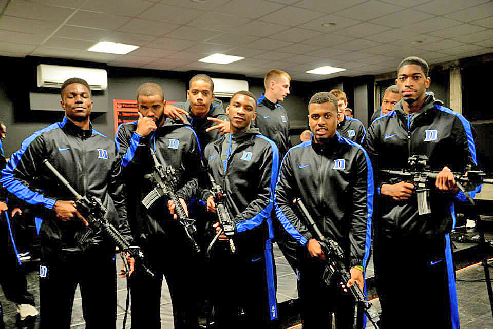 Duke men's basketball coach Mike Kryzewski wanted to show his team the facilities at his alma