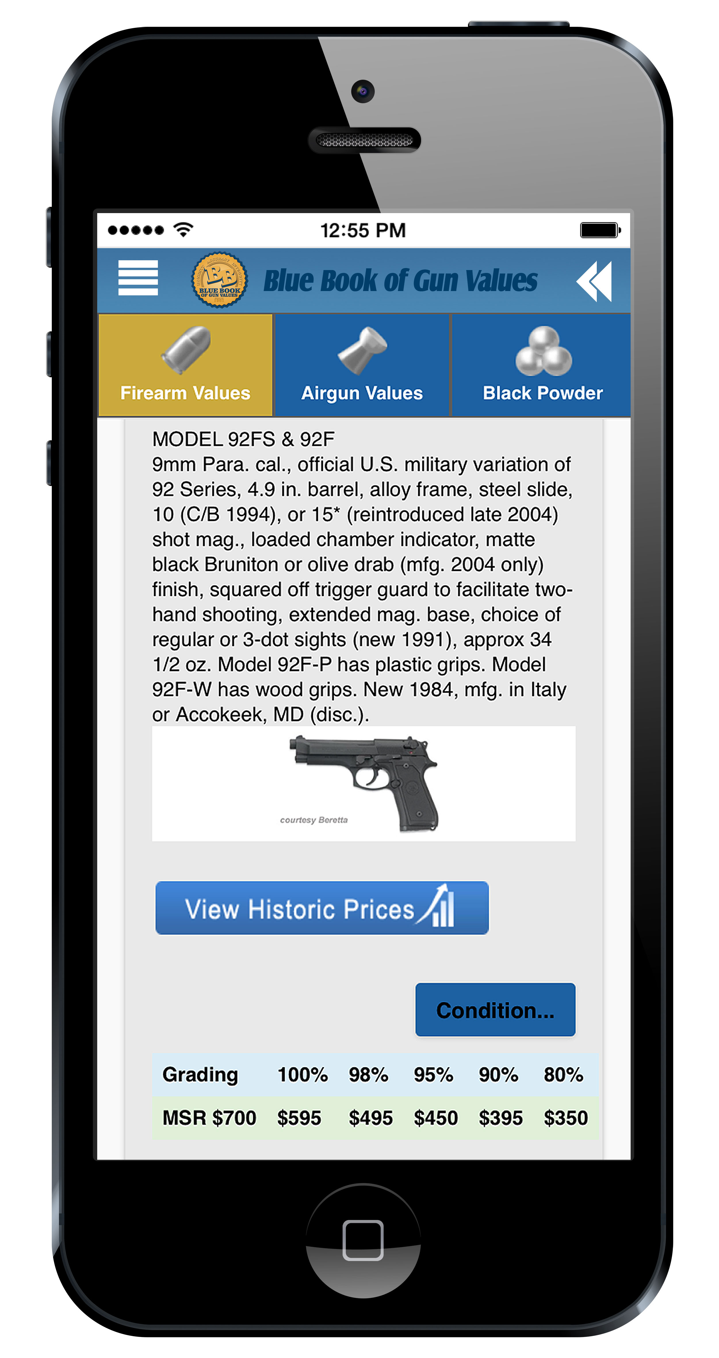 Blue Book of Gun Values App
