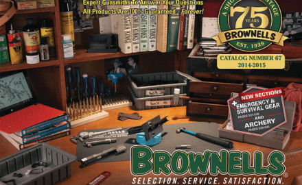 Brownells Catalog #67 features the latest and most popular products for handguns, rifles, shotguns
