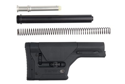 This fully adjustable stock and comb for AR-15/M16/AR-Style .308 rifles readily adapts length of