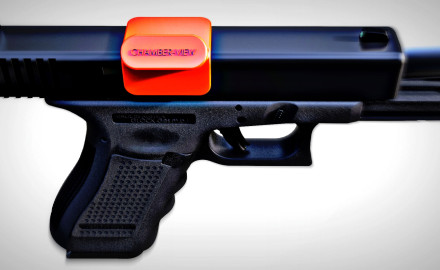 Chamber-View's ECI (Empty Chamber Indicator) for semi-auto pistols is designed for full open action