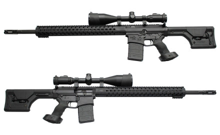The DZT-USAR10-24 .308 rifle features a 24-inch match-grade 4150CMV steel fluted bull barrel