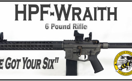 The HPF-WRAITH is a six pound ultralight AR-15 style rifle for the hunter, gun enthusiast or