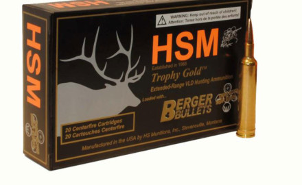 HSM's .257 Weatherby Magnum sends a 115-grain Berger VLD bullet through a 24-inch hunting rifle