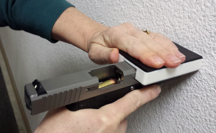 Handi-Racker is a small credit card sized tool that allows you to chamber rounds, clear your
