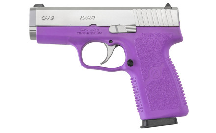 Kahr has introduced their CW9 or CW380 with purple polymer frames. Both models feature the same