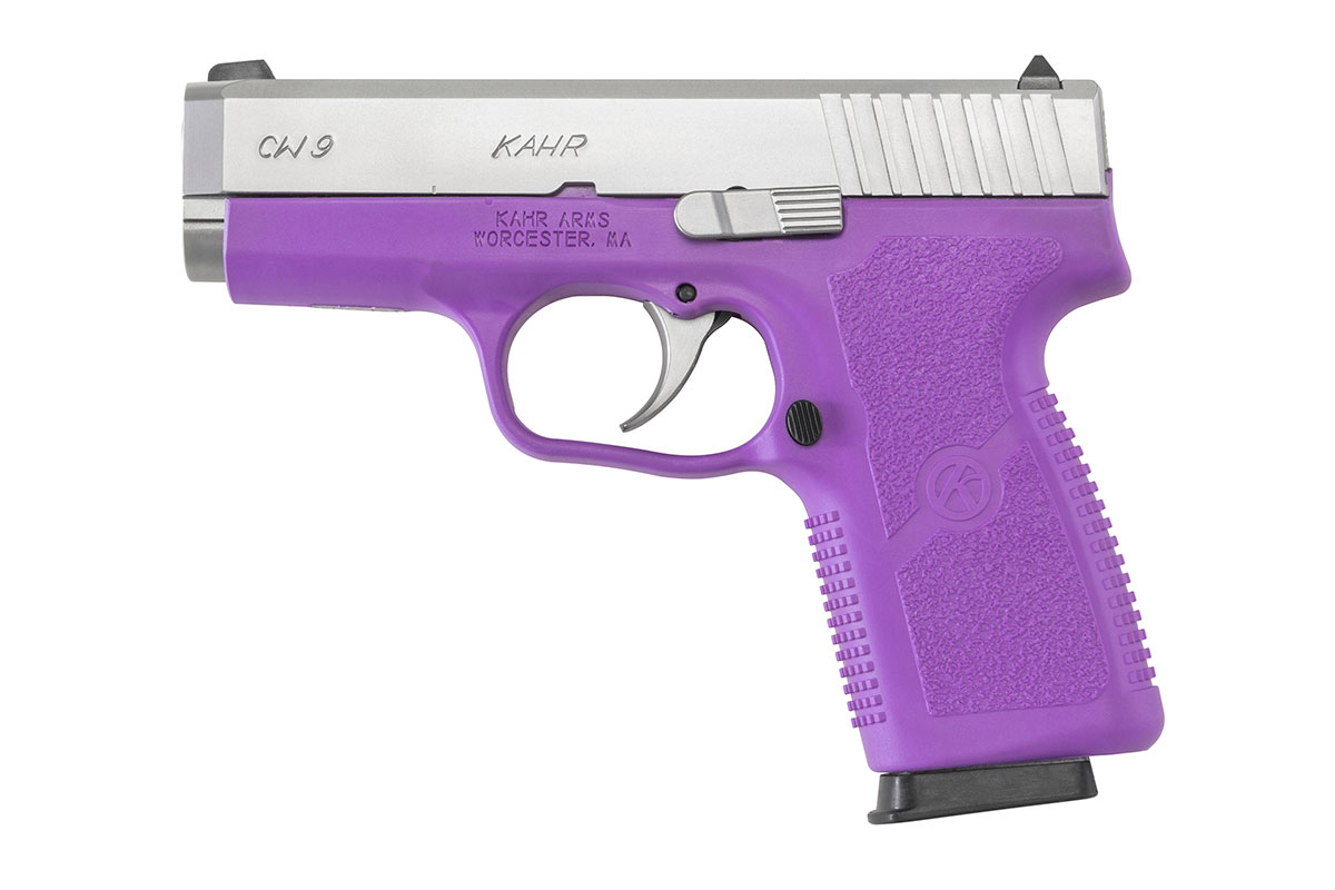Kahr CW9 and CW380 with Purple Frames