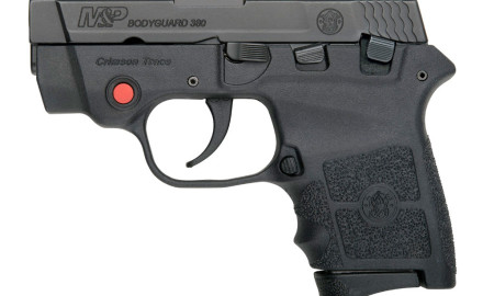 S&W's popular line of Bodyguard handguns now feature Crimson Trace laser sights. The new