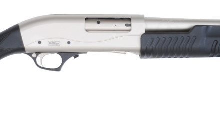 TriStar's Cobra Marine Tactical Pump shotgun comes with an 18.5-inch barrel, brushed nickel finish,