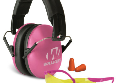 Walker's Game Ear introduces the Pink muff/glasses Passive Combo, which includes their Women's