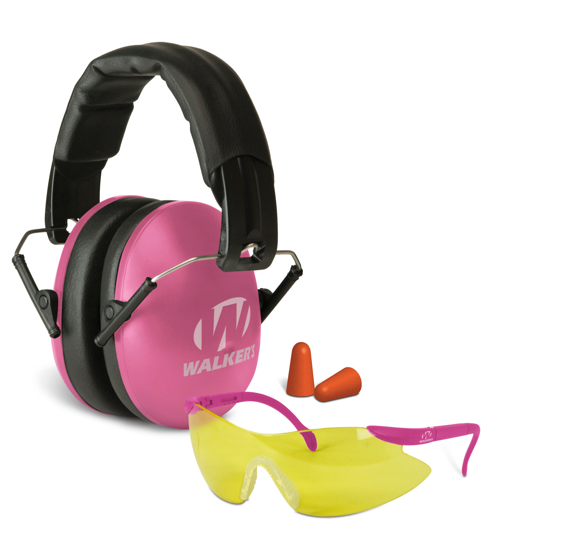Walker'™s Game Ear Pink Muff/Glasses Passive Combo