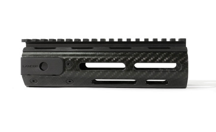 This handguard features a free float design with aluminum picatinny sight rail at 12 o'clock, and