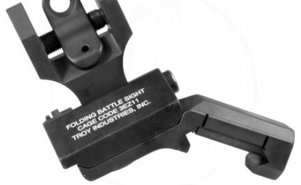 These sights fold compactly to both sides of the rifle. With a true ambidextrous sight base, 45