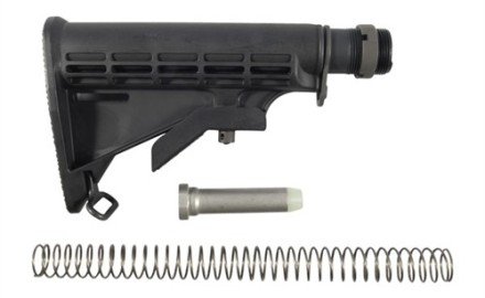 Fits any standard AR-15 rifle or carbine lower receiver. Kit includes buffer tube, receiver lock