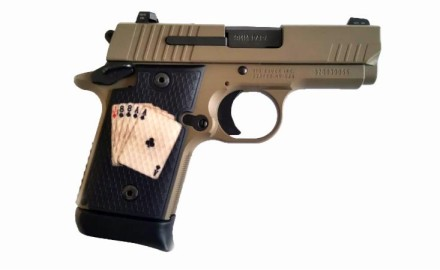 Rio Grande now offers grips for the popular SIG P938 pistol with their RioGrip texture imbedded