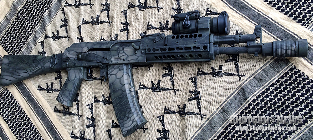 The author's ideal 5.45x39mm SBR is this completed AK-105.